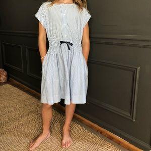 Crewcuts striped dress w pockets size 7